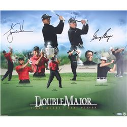"Tiger Woods  Gary Player Signed LE ""Double Major"" 20x24 Photo (UDA COA)"