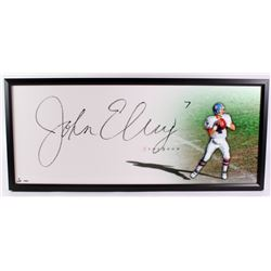"John Elway Signed Broncos ""The Show"" 20x46 Custom Framed Display (UDA COA)"