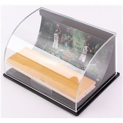 "Kevin Garnett Celtics ""Banners Last Forever"" Game-Used Floor Piece with Custom Curve Display (UDA Ho"