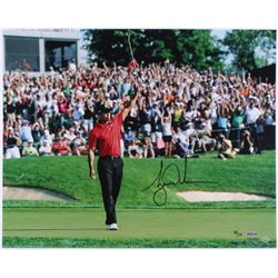 "Tiger Woods Signed LE ""73rd Win Celebration"" 16x20 Photo (UDA COA)"