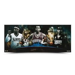 "Allen Iverson Signed 76ers ""Philly's Finest"" 36x15 Photo (UDA COA)"