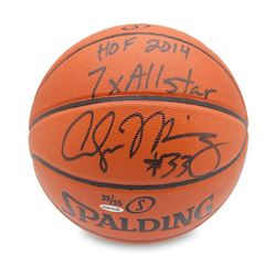 "Alonzo Mourning Signed Basketball Inscribed ""HOF 2014 7x All-Star"" LE 33 (UDA COA)"