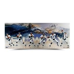 "John Elway Signed ""Art of the Pass"" 36x15 Photo Collage LE 50 (UDA COA)"