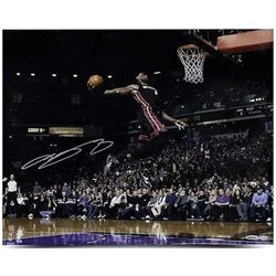 "LeBron James Signed Heat ""Flying"" 16x20 Photo (UDA COA)"