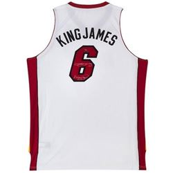 "LeBron James Signed LE Heat ""King James"" Jersey Inscribed ""King James"" (UDA COA)"