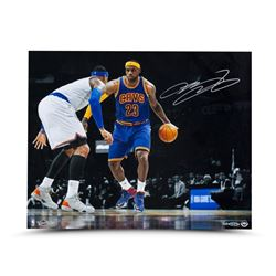 LeBron James Signed Cavaliers LE 16x20 Photo with Carmelo Anthony (UDA COA)