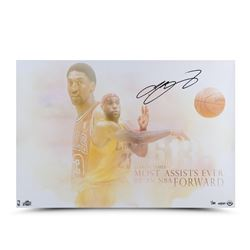 "LeBron James Signed Cavaliers ""Passing of the Forward"" LE 16x24 Photo (UDA COA)"