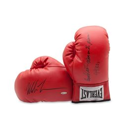 "Mike Tyson Signed Pair of Everlast Boxing Gloves Inscribed ""Baddest Man on the Planet""  ""44 KOs"" (UD"