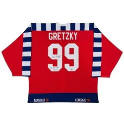"""Wayne Gretzky Signed 1992 All-Star Game Jersey Inscribed """"92 All-Star Game"""" (UDA COA)"""