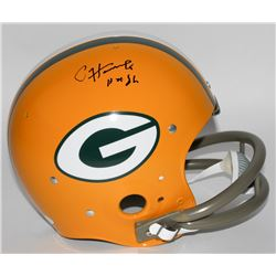 "Paul Hornung Signed Packers Full-Size TK Suspension Helmet Inscribed ""HOF 86"" (JSA COA)"