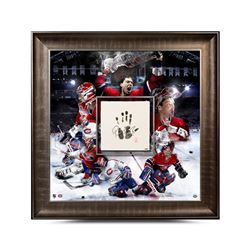 Patrick Roy Signed Canadiens 36x36 Custom Framed Tegata Display (UDA COA)