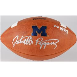 "Jabrill Peppers Signed Michigan Wolverines Logo Game Football Inscribed ""Go Blue"" (JSA COA)"
