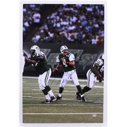 Brett Favre Signed Jets 21x31 Photo (Favre Hologram)