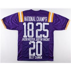 Jacob Hester, Justin Vincent  Billy Cannon Signed LSU Tigers Jersey With (3) National Championship Y