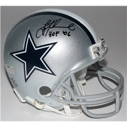 "Troy Aikman Signed Cowboys Mini-Helmet Inscribed ""HOF '06"" (Radtke COA  Aikman Hologram)"