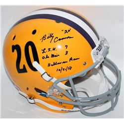 Billy Cannon Signed LSU Tigers Full-Size Helmet with (4) Inscriptions (Cannon COA)