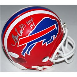 "Andre Reed Signed Bills Mini-Helmet Inscribed ""HOF 14"" (JSA COA)"