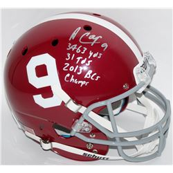 "Amari Cooper Signed Alabama Full-Size Helmet Inscribed ""3463 yds"", ""31 Tds""  ""2013 BCS Champs"" (Radt"