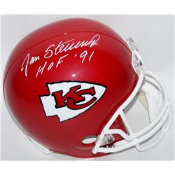 "Jan Stenerud Signed Chiefs Full-Size Helmet Inscribed ""HOF '91"" (JSA COA)"