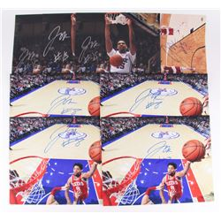Lot of (8) Jahlil Okafor Signed 16x20 Photos (Schwartz COA)