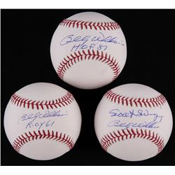 Lot of (3) Billy Williams Signed OML Baseballs (Schwartz COA)