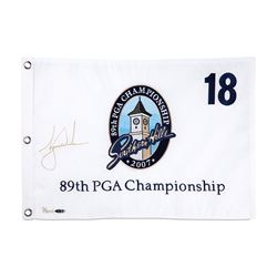 Tiger Woods Signed LE 2007 PGA Championship Pin Flag (UDA COA)