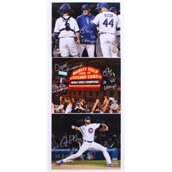 Lot of (3) Signed Cubs 8x10 Photos with (1) Chris Bosio, (1) Justin Grimm  (1) Chris Bosio, John Mal