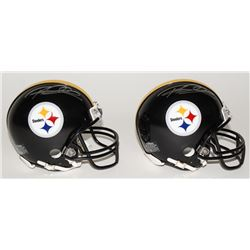 Lot of (2) Rod Woodson Signed Steelers Mini Helmets (Schwartz COA)
