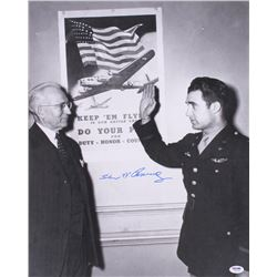 "Steve Pisanos Signed ""Swearing Into America"" 16"" x 20"" Photo (PSA COA)"