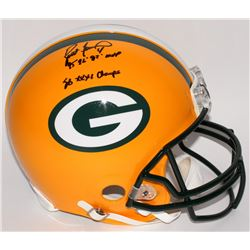 "Brett Favre Signed Packers Full-Size Authentic Pro-Line Helmet Inscribed ""95' 96' 97' MVP""  ""SB XXXI"