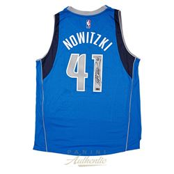 Dirk Nowitzki Signed Mavericks 2014 Authentic Adidas Swingman Jersey (Panini COA)