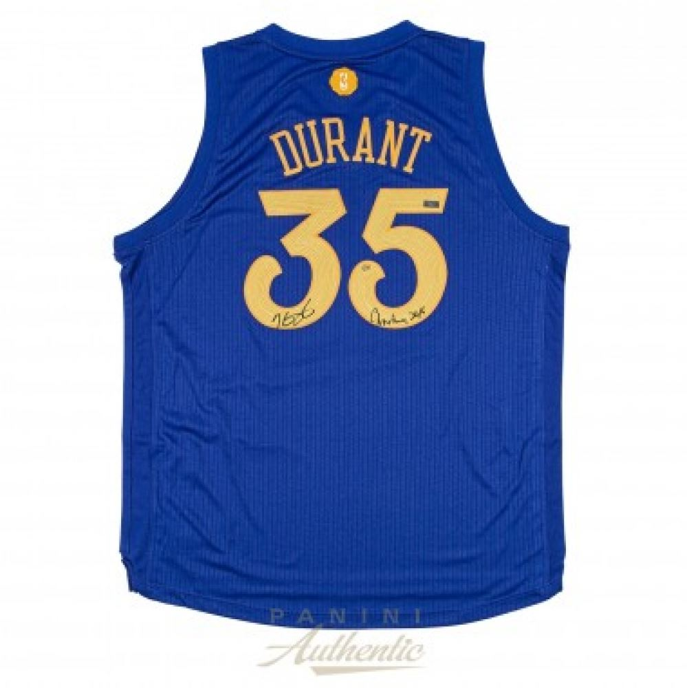 Kevin Durant Signed LE Warriors Christmas Edition Authentic Swingman ...