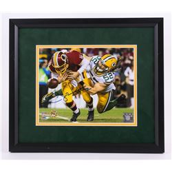 "Clay Matthews Signed 13.5""x15.5"" Custom Framed Photo Display (Matthews Hologram)"