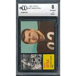 1962 Topps #17 Mike Ditka RC (BCCG 8)