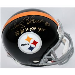 "Rocky Bleier Signed Steelers Full-Size Authentic Pro-Line Helmet Inscribed ""S.B. IX X XIII XIV"" (Rad"