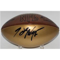 Hank Williams Jr. Signed Gold Panel Wilson NFL Football (JSA COA)