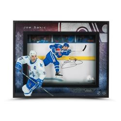 "Joe Sakic Signed Nordiques ""Young Gun"" LE 16x20x2 Custom Framed Shadowbox Display (UDA COA)"