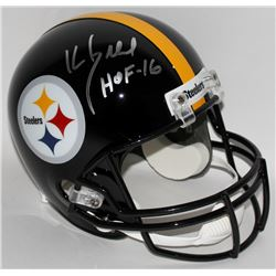 "Kevin Greene Signed Steelers Full-Size Helmet Inscribed ""HOF-16"" (Radtke COA)"