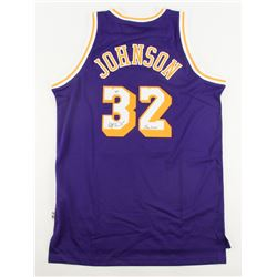 "Magic Johnson Signed Lakers Adidas Jersey Inscribed ""Showtime"" (Radtke Hologram)"