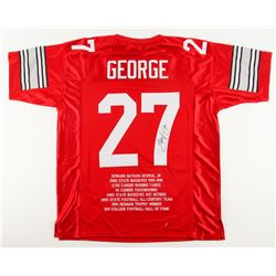 Eddie George Signed Ohio State Buckeyes College Highlight Stat Jersey (JSA COA)
