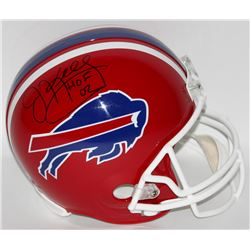 "Jim Kelly Signed Bills Full-Size Helmet Inscribed ""HOF 02"" (Steiner COA)"