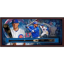 "Kris Bryant Signed 49.5"" x 23.5"" x 3.5"" Custom Framed Baseball Bat Shadow Box Display (MLB)"