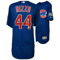 "Anthony Rizzo Signed Cubs 2016 World Series Majestic Authentic Jersey Inscribed ""2016 WS Champs"" (ML"