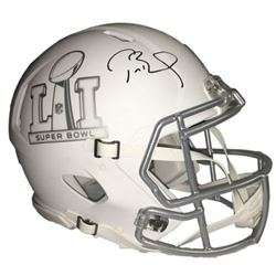 Tom Brady Signed LE Super Bowl 51 Custom Matte White ICE Full-Size Authentic Pro-Line Speed Helmet (