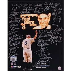 Yankee Yogi Berra Tribute 16x20 Photo Signed by (40) with Jimmy Key, Bud Daley, Bobby Shantz, John W