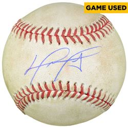 David Ortiz Signed 2016 Final Season OML Game-Used Baseball (MLB)