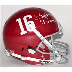 "Derrick Henry Signed Alabama Crimson Tide Full Size Helmet Inscribed ""'15 Heisman"" (Henry Hologram)"