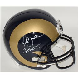 "Marshall Faulk Signed Rams Full-Size Helmet Inscribed ""G.S.O.T."" (JSA COA)"
