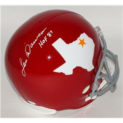 "Len Dawson Signed Dallas Texans Throwback Full-Size Helmet Inscribed ""HOF 87"" (JSA COA)"