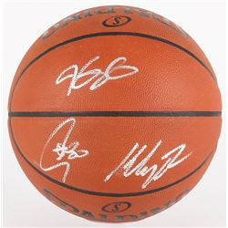 Kevin Durant, Stephen Curry  Klay Thompson Signed NBA Game Ball Series Basketball (Panini COA  Fanat
